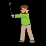 スピンショットのゴルフスイング