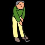 冬ゴルフのアプローチの基本は「転がし」