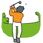 低弾道を狙うゴルフスイング